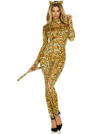 halloween costumes kitty cat ladies leopard print cat costume in gold and orange
