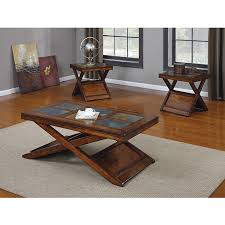 Rustic Coffee And End Tables Marvelous Coffee End Tables With Coffee End Table Set Rustic