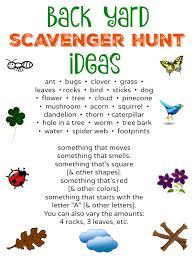 backyard treasure hunt free to be outside back yard scavenger hunt free printable