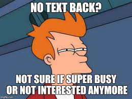 No Text Back Meme - futurama fry meme imgflip