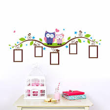 compare prices wall decor window frame online shopping buy low cute owls photo frame nursery cartoon wall decor stickers kids bedroom decoration china mainland