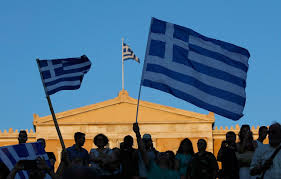 Greek Flag Background Greece Greeks Move Past Referendum Results To New Europe Bailout