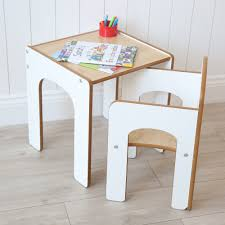 white wooden desk and chair my 1st years