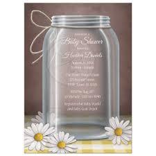 jar baby shower shower invitations jar yellow gingham