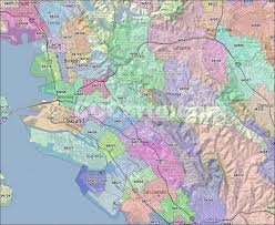 Zip Code Maps by Oakland Ca Zip Codes Alameda County Zip Code Boundary Map