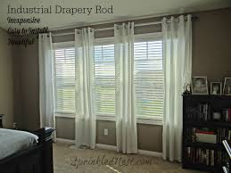 Curtain Rods Installation How To Install An Industrial Drapery Rod Sprinkled Nest