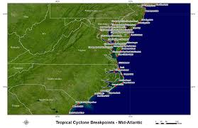 United States Storm Map by Hurricane And Tropical Storm Watch Warning Breakpoints