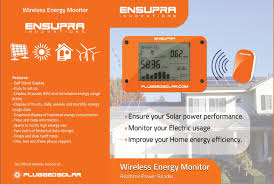 amazon com wireless solar power meter for solar power ac