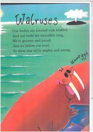 walrus poems for kids google search june preschool the ocean