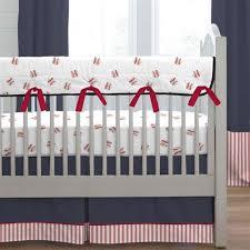 navy and stripe crib rail cover carousel designs