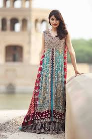 contrast colour combination for dresses pakistani 2018 for party