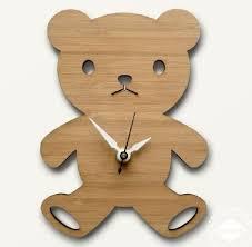 wooden faced teddy bears i still the teddy clock i made in middle school tech ed