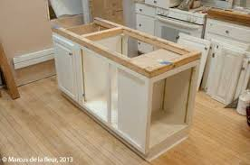 how to install kitchen island cabinets chic how to build a kitchen island with cabinets make diy and