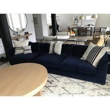 navy blue sofa and loveseat velvet tufted sofa navy blue velvet loveseat how to decorate with a