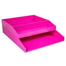 desk pink desktop trays letter tray desk set 2 pieces pink pink
