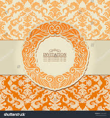 Floral Invitation Card Designs Abstract Leaf Background Exclusive Creative Ornament Stock Vector
