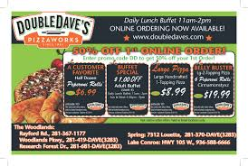 Double Daves Pizza Buffet Hours by Flyerboard 50 Off First Online Order From Double Dave U0027s
