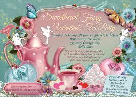 Tea Party Invitation Card Fairy Tea Party Invitation Birthday Tea Party Tea Party