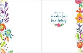 Border Designs For Birthday Cards Flower Border Birthday Card