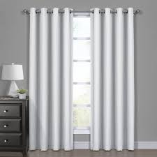 Gray And White Blackout Curtains 100 Blackout Curtain Jacquard Woven Drape Theme