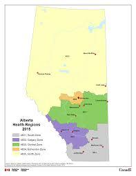 Calgary Alberta Canada Map by 11 Alberta Health Regions 2015