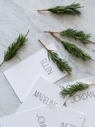 diy rosemary ornament place cards u2014 crafthubs