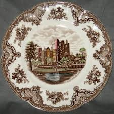 johnson brothers britain castles brown multicolor china