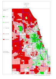 Chicago Il Map by Chicago 1990 Census Maps