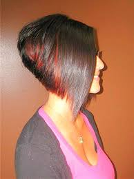 short stacked bob haircut with red highlights zestymag