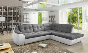 Modern Corner Sofas Two Tone Leather Corner Sofa Functionalities Net