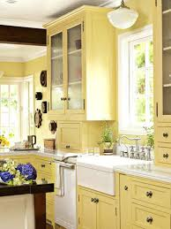 Yellow Kitchens With White Cabinets - pale yellow kitchen with white cabinets ideas photo in decor