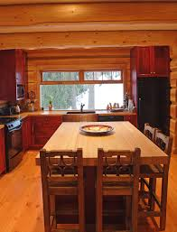 Knotty Pine Cabinets Kitchen Knotty Pine Cabinets Kitchen Rustic With Butcher Block Counter