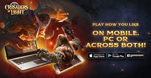 crusaders of light mmorpg now available on google play for android