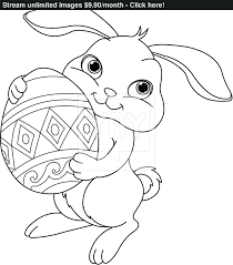 easter bunny coloring pages printable colouring print