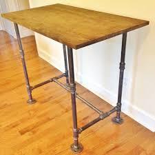 Homemade Wooden Computer Desk by Desk Handmade Desk Wooden Desk Office Desk Industrial Desk