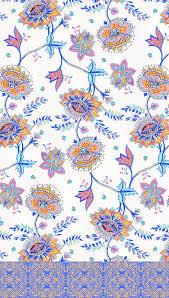 hand painted sarasa floral prints on risd portfolios