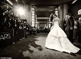 Wedding Dress English Version Jennifer Lawrence Trips And Falls As She Climbs Steps To Accept