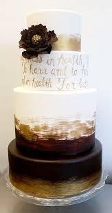 brown cake weddings sugar fixé