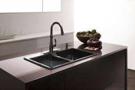 brushed bronze kitchen faucet with water how to brushed bronze