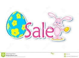 easter egg sale easter bunny with sale tag stock images image 18871414