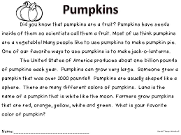 free non fiction close read pumpkins