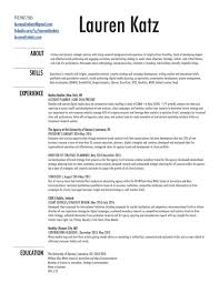 Strategic Planning Resume Resume U2014 Lauren Katz