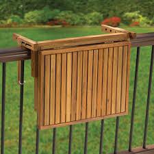 the instant wooden deck table hammacher schlemmer