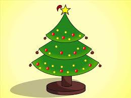 christmas tree drawing ne wall