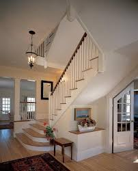 traditional staircase with hardwood floors u0026 columns zillow digs