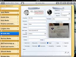 Business Contact Email by Customer Uses Ipad Camera To Collect Business Cards Form Connections