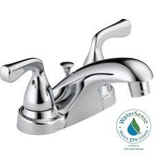 delta foundations 4 in centerset 2 handle bathroom faucet in