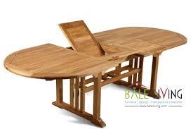 havana double extension table oval indonesia teak garden and