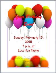 printable invitation flyers