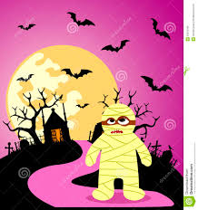 halloween background pink halloween background with mummy stock photos image 33972183